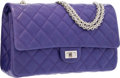 """Luxury Accessories:Bags, Chanel Purple Quilted Lambskin Leather Reissue Jumbo Double FlapBag with Silver Hardware. Excellent Condition. 11""""Wi..."""