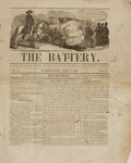 Books:Periodicals, [Periodicals]. First issue of The Battery, Vol. I, No. 1.July 6 1848. Washington, D.C.: George S. Gideon, 1848....