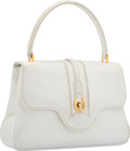 "Luxury Accessories:Bags, Gucci White Leather Top Handle Bag. Good Condition. 10""Width x 6.5"" Height x 2.5"" Depth. ..."