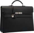Luxury Accessories:Bags, Hermes Black Epsom Leather Kelly Depeches PM Briefcase Bag withPalladium Hardware . M Square, 2009. Very Good toExce...