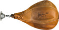Boxing Collectibles:Autographs, 1990's Muhammad Ali Signed Speed Bag, PSA/DNA Gem Mint 10. ...