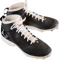 Baseball Collectibles:Others, 2014 Derek Jeter Game Worn New York Yankees Cleats....