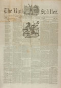 Books:Periodicals, [Abraham Lincoln, Newspapers]. Charles Leib, editor. The RailSplitter, Vol. I, No. 16. October 6, 1860....