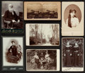 Photography:CDVs, Collection of five carte-de-visite photographs, eighteen cabinet cards and one stereo view. Mid-19th century. Various uniden...