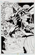 Original Comic Art:Splash Pages, Mike Collins and Ken Branch Darkstars #37 Splash Page 20Original Art (DC, 1995)....