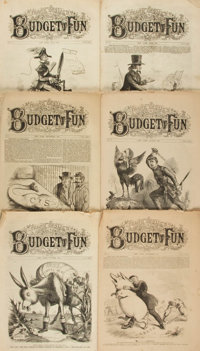[Civil War, Illustrated Periodicals]. Six Consecutive Issues of Frank Leslie's Budget of Fun