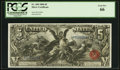 Large Size:Silver Certificates, Fr. 269 $5 1896 Silver Certificate PCGS Gem New 66.. ...