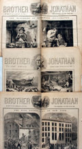 Books:Periodicals, [Illustrated Periodicals]. Three Issues of Brother Jonathan,Circa 1855 - 1858....