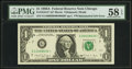 Error Notes:Mismatched Serial Numbers, Fr. 1916-G* $1 1988A Federal Reserve Note. PMG Choice About Unc 58 EPQ.. ...