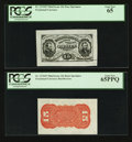 Fractional Currency:Third Issue, Fr. 1276SP 15¢ Third Issue Wide Margin Pair PCGS Gem New 65/65PPQ.. ... (Total: 2 notes)