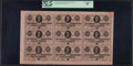 Confederate Notes:1864 Issues, T72 50 Cents 1864 PF-2 Cr. 579 Uncut Sheet of Nine.. ...