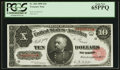 Large Size:Treasury Notes, Fr. 368 $10 1890 Treasury Note PCGS Gem New 65PPQ.. ...