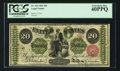 Large Size:Legal Tender Notes, Fr. 126 $20 1863 Legal Tender PCGS Extremely Fine 40PPQ.. ...