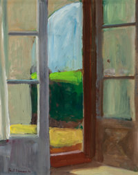 Paul Wonner (1920-2008) Studio Door, 1964 Oil on board 11-3/4 x 9-3/4 inches (29.8 x 24.8 cm)
