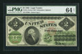 Large Size:Legal Tender Notes, Fr. 41a $2 1862 Legal Tender PMG Choice Uncirculated 64 Net.. ...