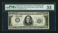 Fr. 2200-E $500 1928 Federal Reserve Note. PMG About Uncirculated 53