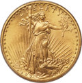 Saint-Gaudens Double Eagles, 1908-D $20 Motto MS65+ PCGS....