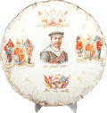 Miscellaneous:Ephemera, The Handy Man. Victorian commemorative ceramic plate.Unknown maker, ca. 1880. Depicts the various branches of the Q...