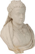 Miscellaneous:Ephemera, Copeland parian bust of Queen Victoria. Impressed factory mark andOwen. Hale, SC/II Pub. Feb. 1887 base recto and sides....