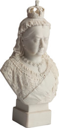 Miscellaneous:Ephemera, Victoria, To commemorate the 60th year of her reign1837-1897. A R&L Parian bust. Title and factory markimpressed ver...