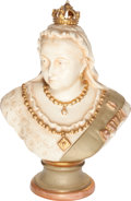Miscellaneous:Ephemera, Glazed porcelain bust of Queen Victoria. Unknown maker, ca. 1897.....