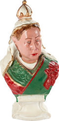 Miscellaneous:Ephemera, Hand-painted plaster bust of Queen Victoria, 1901.. ...