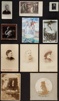 Photography:Cabinet Photos, Assortment of six Victorian photographs to include a WoodburyLantern slide of the Queen, ca. 1897.. ...