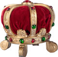 Miscellaneous:Ephemera, Painted and jeweled cast alloy and velvet pin cushion, ca. 1900.....