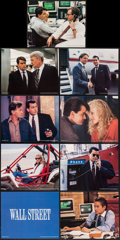 "Movie Posters:Crime, Wall Street (20th Century Fox, 1987). Mini Lobby Card Set of 9& Presskit Photos (10) (8"" X 10""). Crime.. ... (Total: 19Items)"