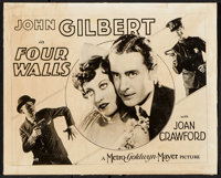 """Four Walls (MGM, 1928). Photo Title Card (8"""" X 10""""). Crime"""