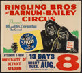 """Movie Posters:Miscellaneous, Ringling Brothers and Barnum & Bailey Circus (1943). Circus Poster (28"""" X 42"""", 37"""" X 42"""" with Snipe). Miscellaneous.. ..."""