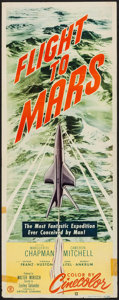 "Movie Posters:Science Fiction, Flight to Mars (Monogram, 1951). Insert (14"" X 36""). ScienceFiction.. ..."