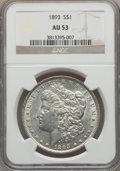 Morgan Dollars: , 1893 $1 AU53 NGC. NGC Census: (295/2758). PCGS Population (304/4449). Mintage: 389,792. Numismedia Wsl. Price for problem f...