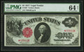 Large Size:Legal Tender Notes, Fr. 36* $1 1917 Legal Tender PMG Choice Uncirculated 64 Net.. ...
