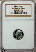 Proof Roosevelt Dimes, 1961 10C PR67 ★ White Cameo NGC. This lot also includes: 1961 10CPR68 Ultra Cameo NGC... (Total: 3 coins)