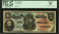 Large Size:Legal Tender Notes, Fr. 64 $5 1869 Legal Tender PCGS Very Fine 20.. ...