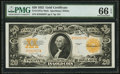 Large Size:Gold Certificates, Fr. 1187 $20 1922 Gold Certificate PMG Gem Uncirculated 66 EPQ.. ...