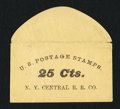 Miscellaneous:Other, New York Central R.R. Co. (Albany) 25 Cts. PE524. Very Fine.. ...