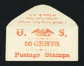 Miscellaneous:Other, J. Leach 86 Nassau Street N.Y. 50 Cents. PE449. Choice About New.. ...