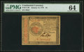 Colonial Notes:Continental Congress Issues, Continental Currency January 14, 1779 $4 PMG Choice Uncirculated64.. ...