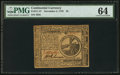Colonial Notes:Continental Congress Issues, Continental Currency November 2, 1776 $2 PMG Choice Uncirculated 64.. ...