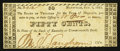 Obsoletes By State:Kentucky, Maysville, KY- Town of Maysville 50¢ Oct. 8, 1821 Hughes-UNL. ...