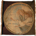 Miscellaneous:Ephemera, The Three Maios of El Finmere. Woven tapestry banner, ca.1890.. ...