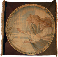 The Three Maios of El Finmere. Woven tapestry banner, ca. 1890