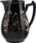 Miscellaneous:Ephemera, To Commemorate the 60 years of Her Majesty's Most GloriousReign. Black ceramic pitcher. 1897.. ...