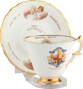 Miscellaneous:Ephemera, Taylor and Kent. Bone china cup and saucer set. New Westminster100 Years. 1958.. ... (Total: 2 Items)