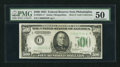 Fr. 2201-C* $500 1934 Federal Reserve Note. PMG About Uncirculated 50