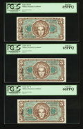 Military Payment Certificates:Series 651, Series 651 $5 Seven Consecutive Examples PCGS Graded.. ... (Total:7 notes)