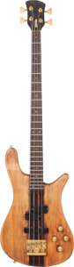 Musical Instruments:Electric Guitars, 1985 Warwick Streamer Natural Electric Bass Guitar, Serial # 260B....