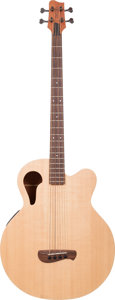Musical Instruments:Bass Guitars, 2000's Tacoma Thunderchief Natural Acoustic Electric Bass Guitar, Serial # J1085040....